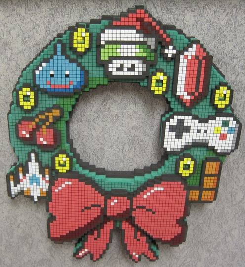 Gamerdad gaming with children 8 bit christmas wreath for 8 bit decoration